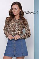 Женская леопардовая рубашка
