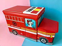 """Бокс-пуфик для игрушек """"Пожарная машина"""" Bambi"""