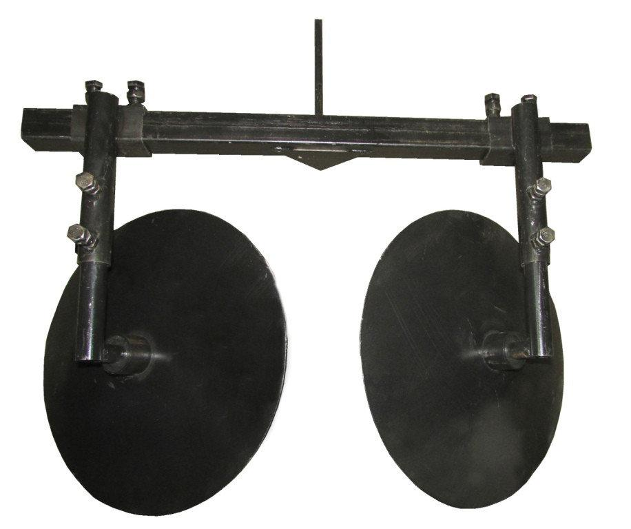 Окучник дисковый регулируемый+двойная сцепка (D=360 мм)
