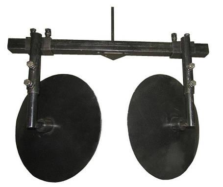 Окучник дисковый регулируемый+двойная сцепка (D=360 мм), фото 2