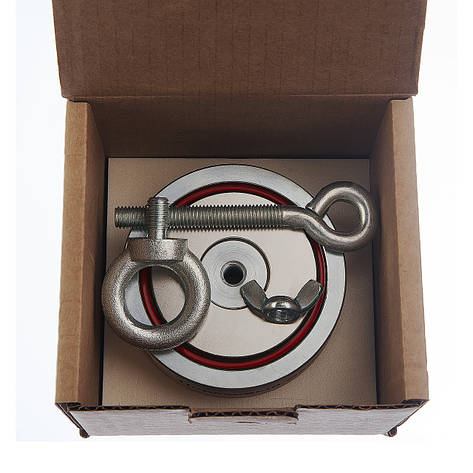 Поисковый магнит Непра 2F300 кг Двухсторонний неодимовый, для поиска металла в воде, кладов, фото 2