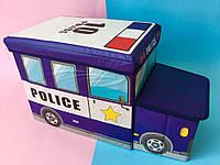 """Бокс-пуфик для игрушек """"Полиция"""" Bambi"""