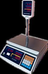Торговые весы электронные со стойкой, 15 кг ВТД-ЕД(F902H-15ED) Днепровес