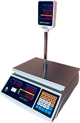 Торговые весы электронные со стойкой, 6 кг ВТД-ЕД(F902H-6ED)