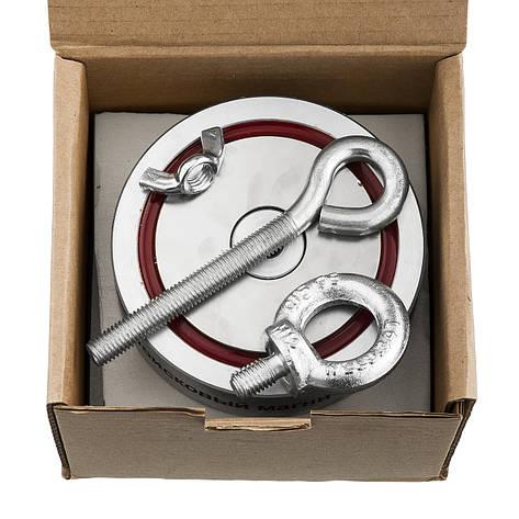 Поисковый магнит Непра 2F600 кг Двухсторонний неодимовый самый сильный, для поиска кладов, металла, фото 2
