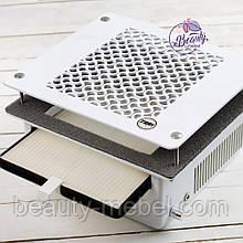 Teri 600 встраиваемая маникюрная вытяжка с HEPA фильтром (сетка белый пластик)