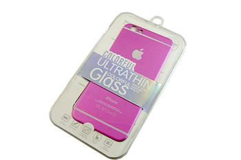 Наклейка на обратную сторону iphone 6 -- РОЗОВАЯ D100