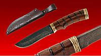 Нож Охотник дамасская сталь,охотничьи ножи,товары для рыбалки и охоты,оригинал