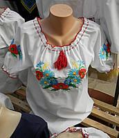 Вышиванка  для девочки рукав короткий  0101кр( C.Р.Б.)