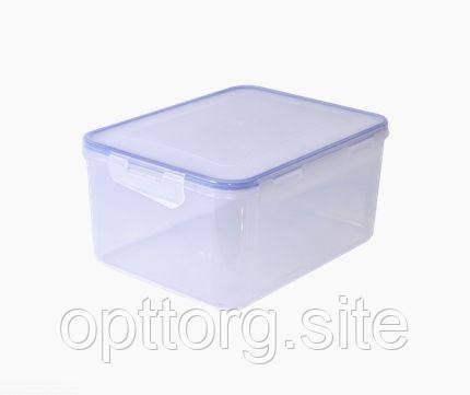 Контейнер для пищевых продуктов 6,0 л прямоугольный с зажимом Алеана 167045