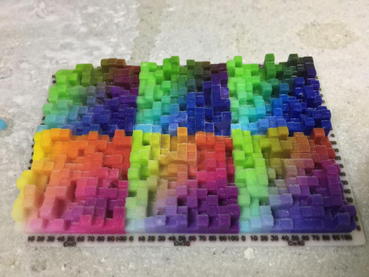 Кольоровий 3D друк гіпсом