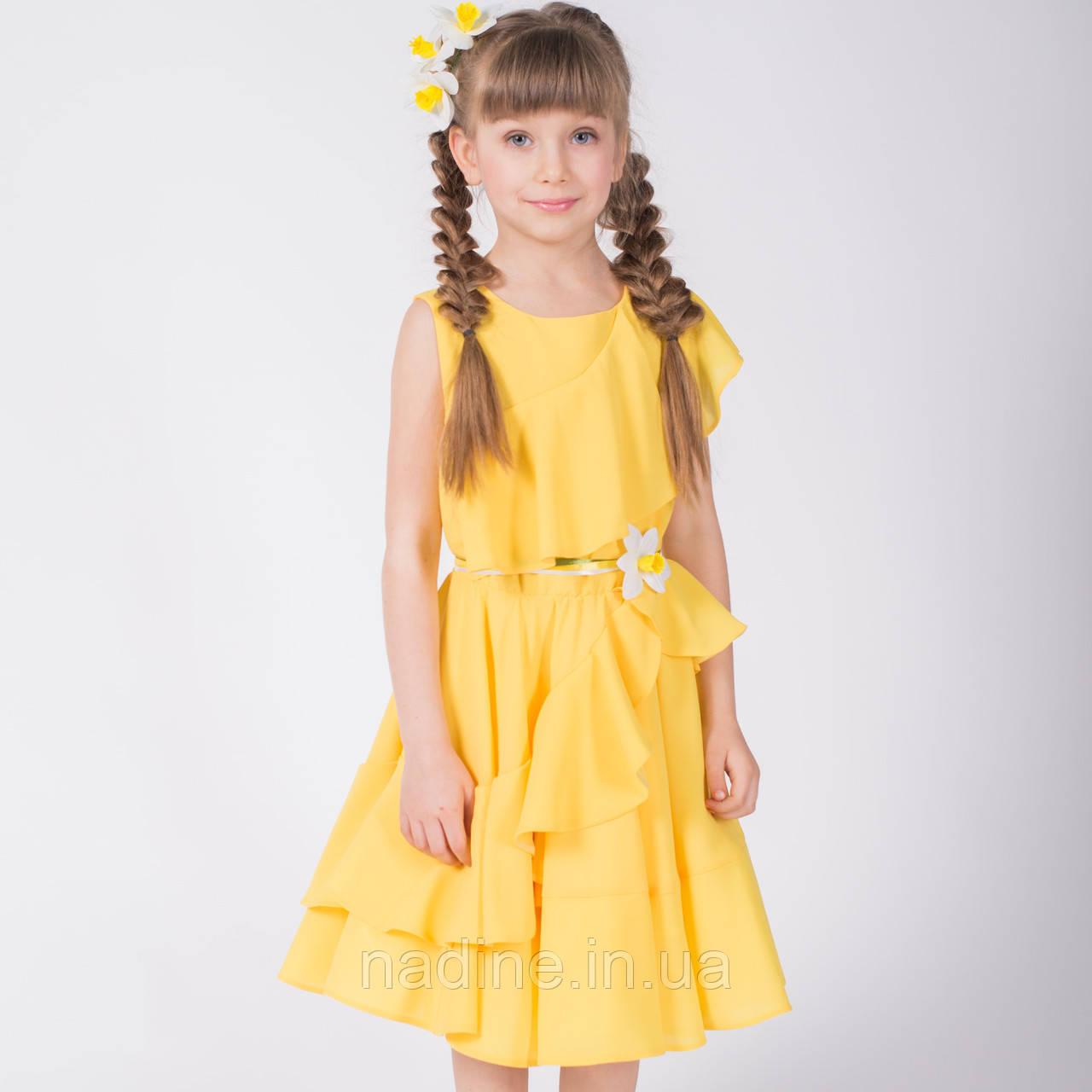Шифоновое платье Yellow Narcissus Eirena Nadine (133-22) на девочку рост 122 Жёлтое
