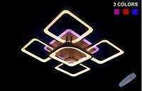 Люстра светодиодная потолочная 5543/4+1 color LED