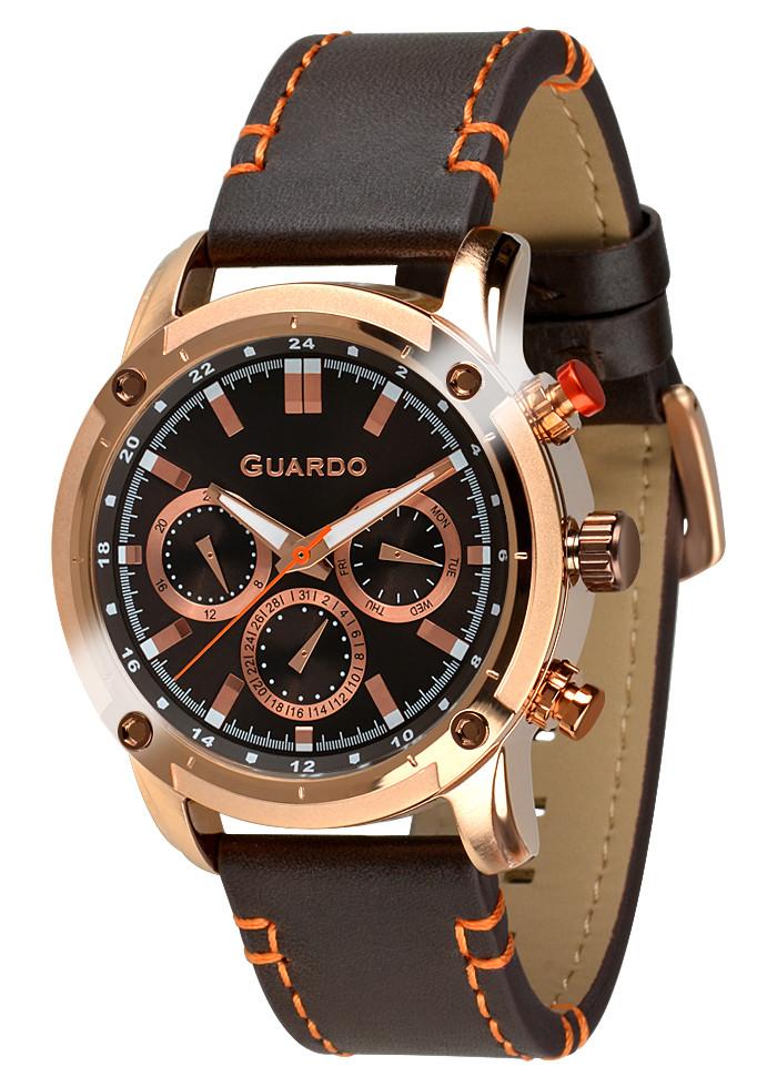Часы мужские Guardo 011645-3 золотые