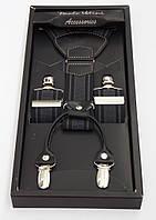 Мужские черно-серые подтяжки Paolo Udini подарочные, фото 1