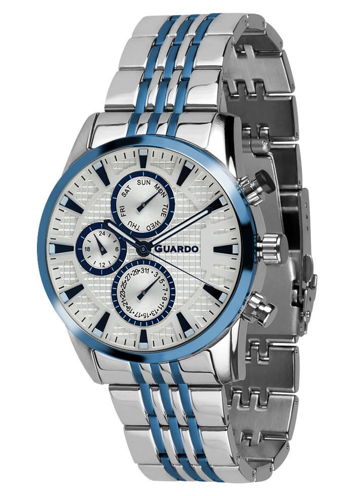 Часы мужские Guardo 011653-2 серебряные
