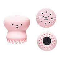 Силиконовая щетка для очистки и массажа лица Etude House My Beauty Tool Jellyfish Silicon brush, фото 1