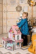Кукольный домик NestWood Мини коттедж для ЛОЛ с мебелью 9 шт розовый (kdl002), фото 7