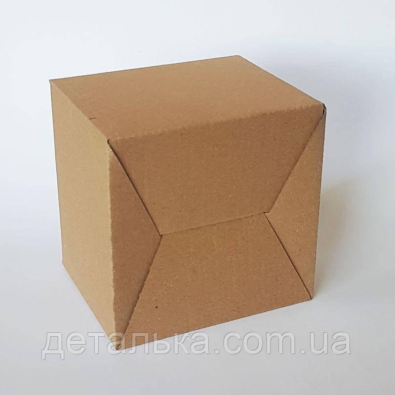 Картонные коробки с прорезными ручками 400*400*455 мм.