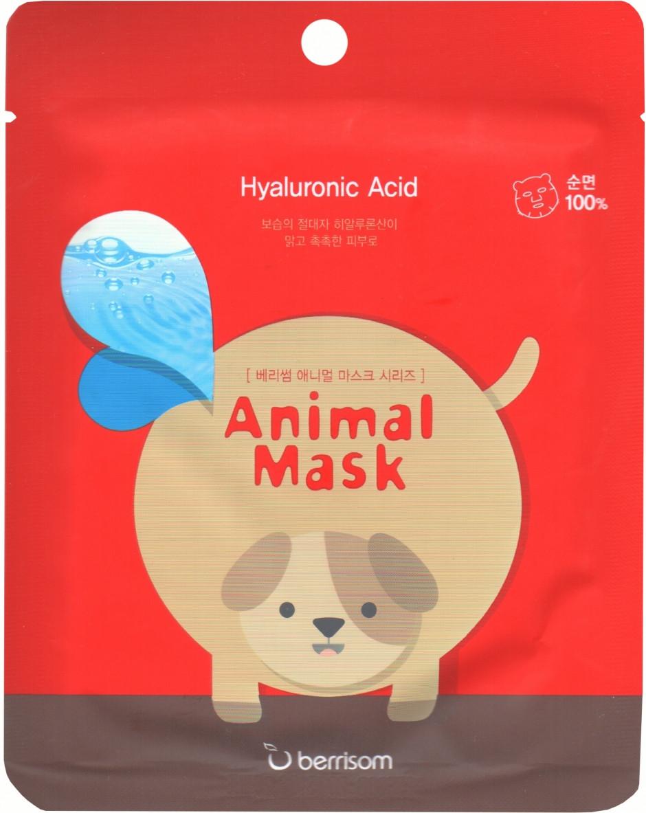 Увлажняющая маска с гиалуроновой кислотой Berrisom Animal Mask Dog