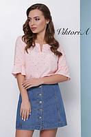 Летняя блузка с фальгированием
