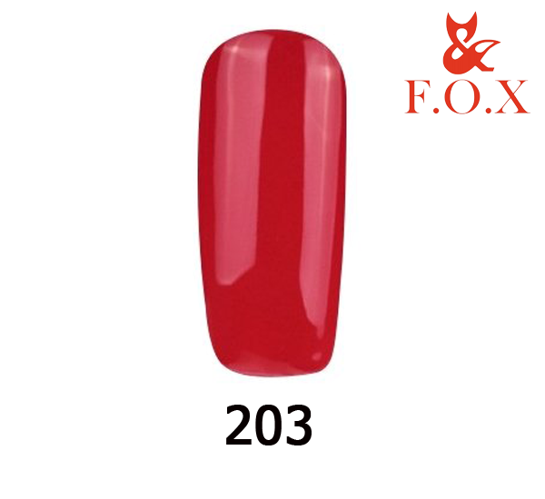 Гель-лак FOX Pigment № 203 (алый эмаль), 6 мл