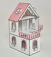Кукольный домик NestWood Мини коттедж для ЛОЛ с мебелью 9 шт розовый (kdl002), фото 3
