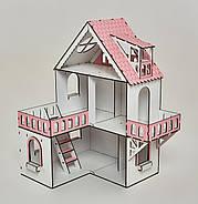 Кукольный домик NestWood Мини коттедж для ЛОЛ с мебелью 9 шт розовый (kdl002), фото 2