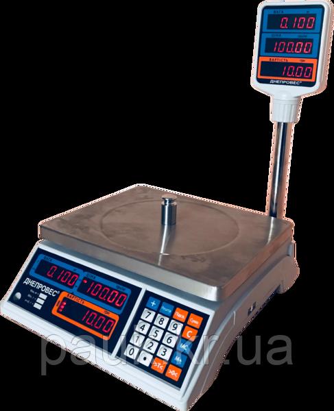 Весы торговые, 15 кг ВТД-Т2, СВ дисплей