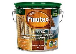 Деревозащитное средство Pinotex Ultra красное дерево 3л