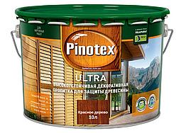 Деревозащитное средство Pinotex Ultra красное дерево 10л