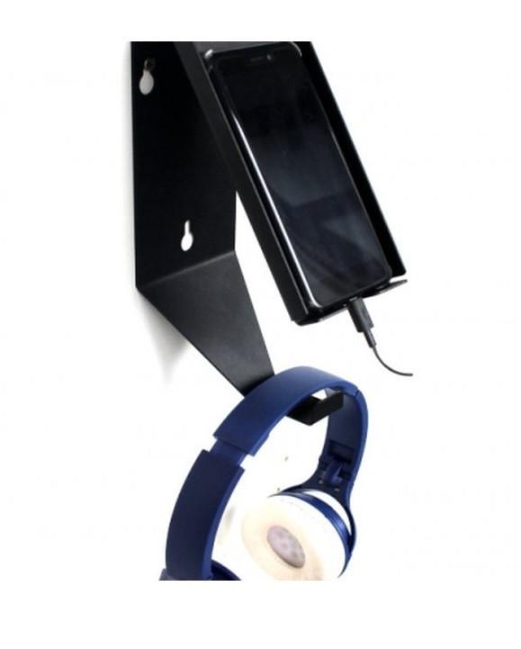 Настенный держатель для телефона и наушников
