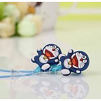 Наушники вакуумные детские Doraemon JH-406, синий, mini jack 3.5m, наушники затычки, детские наушники