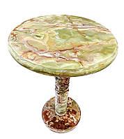 Стол из натурального оникса, диаметр 40 см