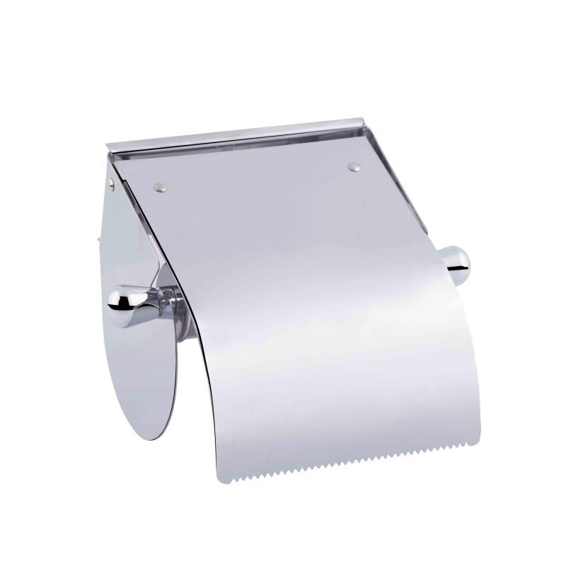 Держатель туалетной бумаги с крышкой цвет хром Potato P301