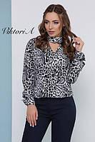 Леопардовая блузочка свободного кроя