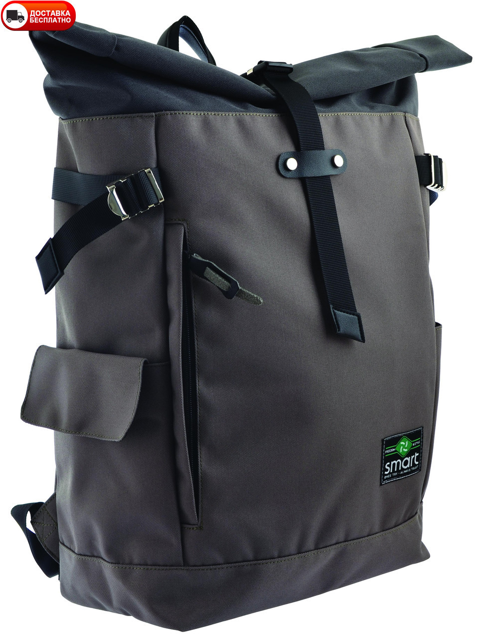 Рюкзак SMART 557518 Roll-top T-69 Khaki