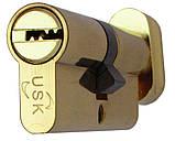 Цилиндровый механизм USK ZC-60 (30x30) ключ/поворотник, фото 5
