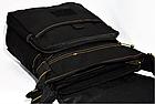 Сумка брезентовая Gold be! Модель 103 Цвет чёрный, синий, хаки, фото 5