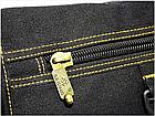 Сумка брезентовая Gold be! Модель 103 Цвет чёрный, синий, хаки, фото 8