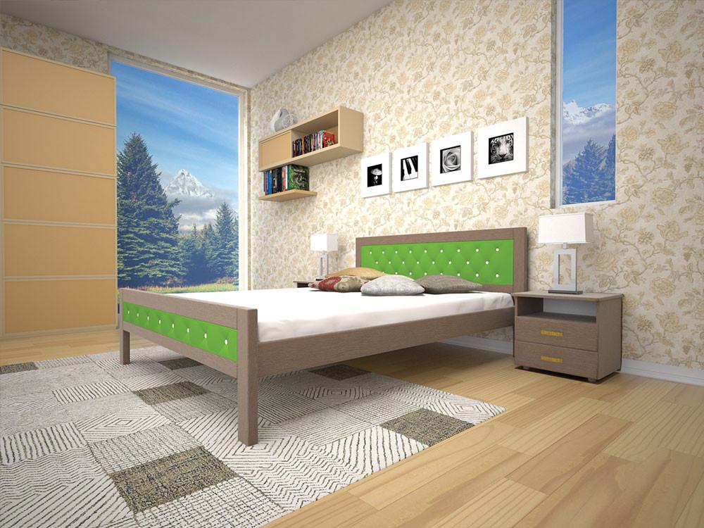 Ліжко з натурального дерева МОДЕРН 6140*200