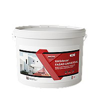 Водно-дисперсійна  латексна фарба для зовнішніх робіт КASdecor Fasad universal-10л