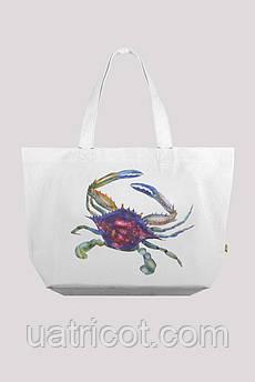 Пляжная сумка  KIFA С-2 краб белая