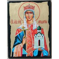 Икона Святая мученица Людмила, княгиня Чешская
