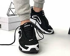 Мужские кроссовки в стиле Nike Air Max 720 Black/White (40, 42, 43, 44 размеры), фото 2