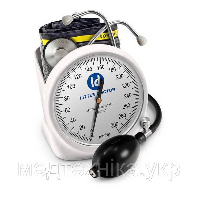 Тонометр механический профессиональный LD100 настольный с фонендоскопом,  манжета 25 - 36 см, Сингапур