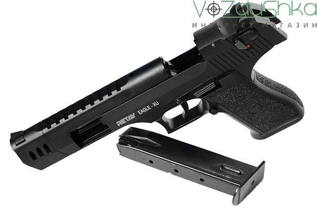 Стартовый пистолет retay eagle xu на затворной задержке с извлеченным магазином