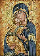 Набор для вышивания крестиком Икона Владимирской Божьей Матери. Размер: 21,8*30,6 см