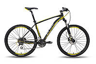 """Велосипед 27,5"""" PRIDE XC-650 HD рама - 21"""" черно-жёлтый матовый 2015 (вилка без локаута)"""