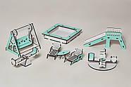 Игровой набор NestWood Детская площадка для кукол ЛОЛ мятная (kml004m), фото 2